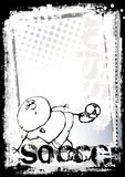 Funny soccer poster background 2 Royalty Free Stock Photos