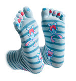 Funny socks Stock Photo