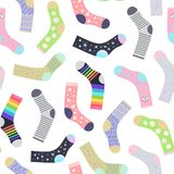 Socks seamless pattern stock illustration