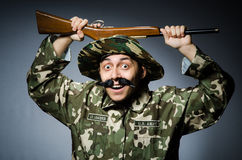 Funny soldier Stock Photos