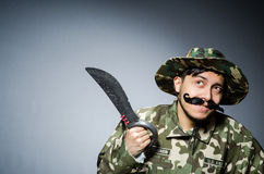 Funny soldier Stock Image