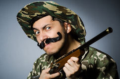 Funny soldier Royalty Free Stock Photos