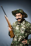 Funny soldier Royalty Free Stock Image