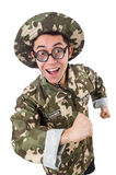 Funny soldier Royalty Free Stock Photo