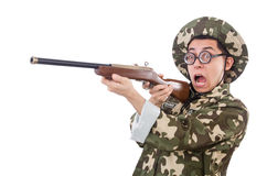 Funny soldier Royalty Free Stock Images
