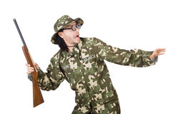 Funny soldier Stock Photography
