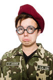 Funny soldier isolated Stock Photo
