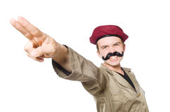 Funny soldier isolated Royalty Free Stock Photo