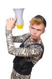 Funny soldier isolated Royalty Free Stock Photography