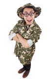 Funny soldier in military Stock Image