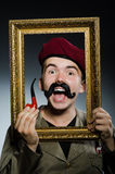 Funny soldier in military Royalty Free Stock Images
