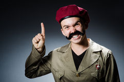 Funny soldier in military Stock Photo
