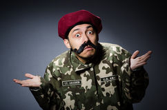 Funny soldier in military Stock Photos