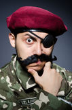 Funny soldier in military Royalty Free Stock Photos