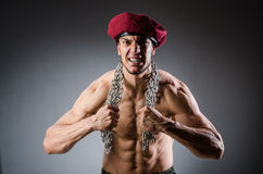 Funny soldier in military Royalty Free Stock Image