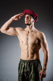 Funny soldier Stock Images