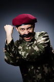 Funny soldier in military concept Royalty Free Stock Photography