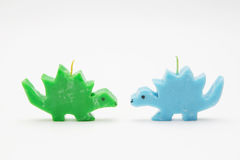 Funny Souvenir gift candles in the shape of multicolored dragons Stock Image