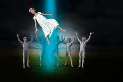 Free Funny Space Alien, UFO Abduction Royalty Free Stock Photo - 123272825