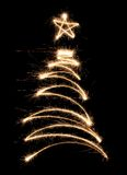 funny sparkler tree Στοκ Φωτογραφίες