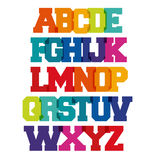 Funny Spectrum School Alphabet. Cool colorfull upper case letters on white background Vector Illustration