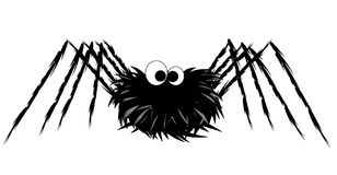 Funny spider. Illustration of cute spider isolated on white background Stock Images