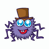 Funny spider cartoon for t-shirt design Royalty Free Stock Photography