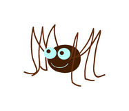Funny spider cartoon vector illustration Royalty Free Stock Images