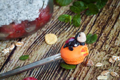 Funny spoon with ladybird Royalty Free Stock Photography