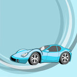 Funny sport  blue car Stock Photos