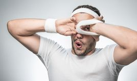 Funny sport man Stock Images