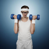 Funny sport nerd Royalty Free Stock Images