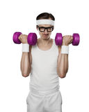 Funny sport nerd Stock Images