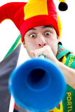 Funny sports fan Stock Photos