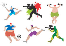 Funny sports figures Stock Photography