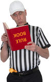 Funny Sports Football Referee Umpire Isoiated Stock Photography