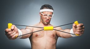 Funny sports man Royalty Free Stock Images