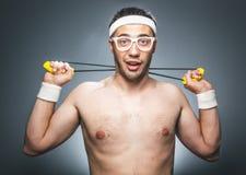 Funny sports man Stock Photo