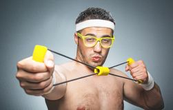 Funny sports man Royalty Free Stock Photography