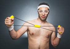 Funny sports man Stock Image