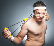 Funny sports man Stock Images