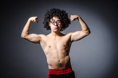 Funny sportsman sporting Royalty Free Stock Photography