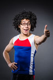 Funny sportsman sporting Stock Image