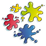 Funny spots of paint. Drops of paint for children web decorate Royalty Free Stock Images