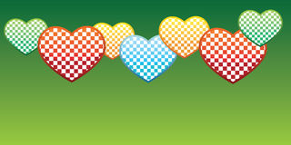 Funny spring background. Love spring background with bright hearts for you text information Stock Photography
