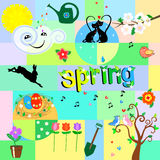 Funny spring background Stock Photography