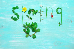 Funny spring background Stock Photos