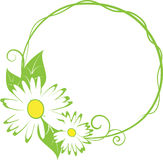 Funny spring floral border. Abstract funny spring floral border.  illustration Stock Images