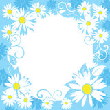 Funny spring floral border. illustration Royalty Free Stock Photo