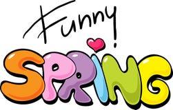 Funny Spring inscription - vector illustration Stock Photo